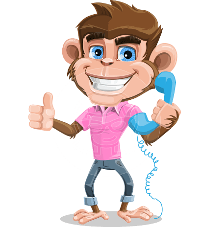 Ape Cartoon Vector Character AKA Dunc the Funky Monkey
