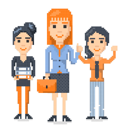 Pixel Design People: The 8bit Women
