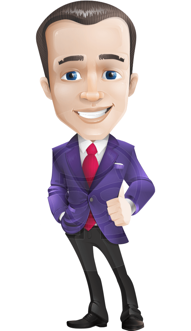 business vector cartoon character man graphic design ultra violet color 2018