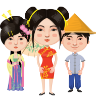 Asian People Vector Cartoon Graphics Maker