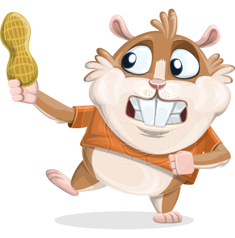 Hamster Cartoon Vector Character AKA Bean McRound