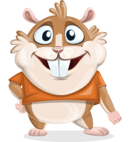 Bean McRound The Smiling Hamster