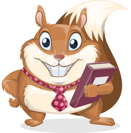 Squirrel with a Tie Cartoon Vector Character AKA Antonio the Businessman