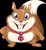 Squirrel with a Tie Cartoon Vector Character AKA Antonio the Businessman