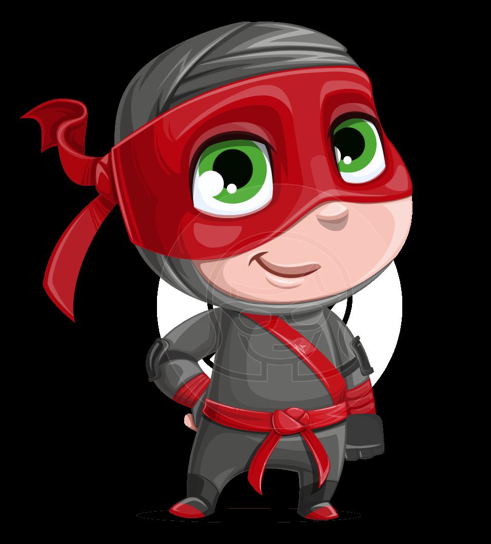 ninja boy vector
