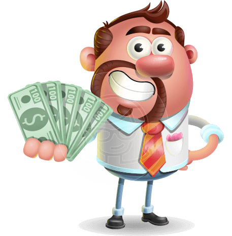 Businessman with Goatie Cartoon 3D Vector Character AKA Jordan