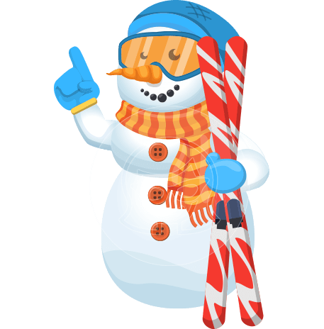 Snowman Cartoon Vector Character
