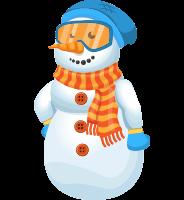 Snowman Cartoon Vector Character AKA Chillie