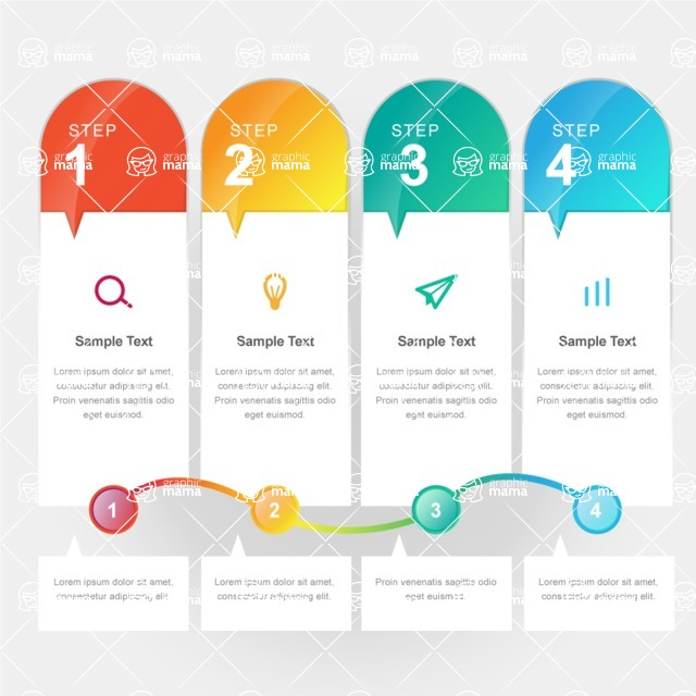 Infographic Template Collection - Infographic Steps Concept