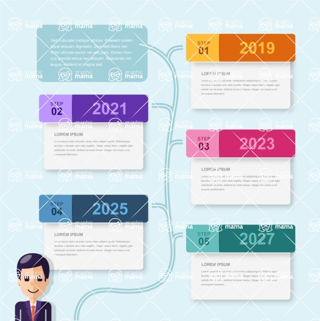 Infographic Templates Collection - Vector, Photoshop, PowerPoint, Google Slides - Timeline Infographic Template