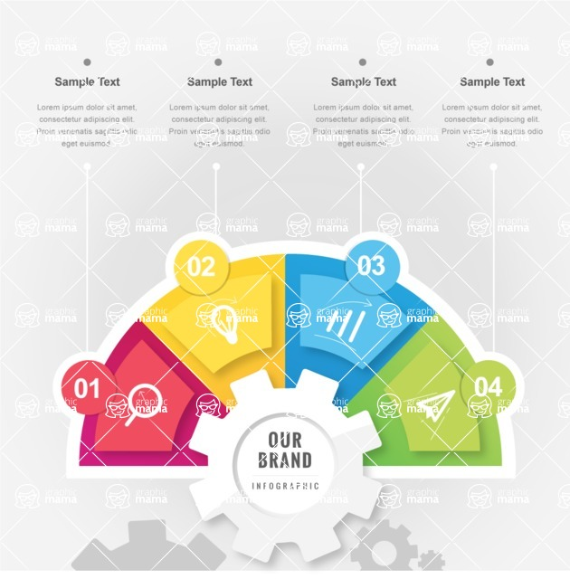 Infographic Template Collection - Colorful Infographic Template with Steps