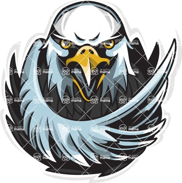 Vector Mascot Collection - Eagle Sport Mascot Illustration