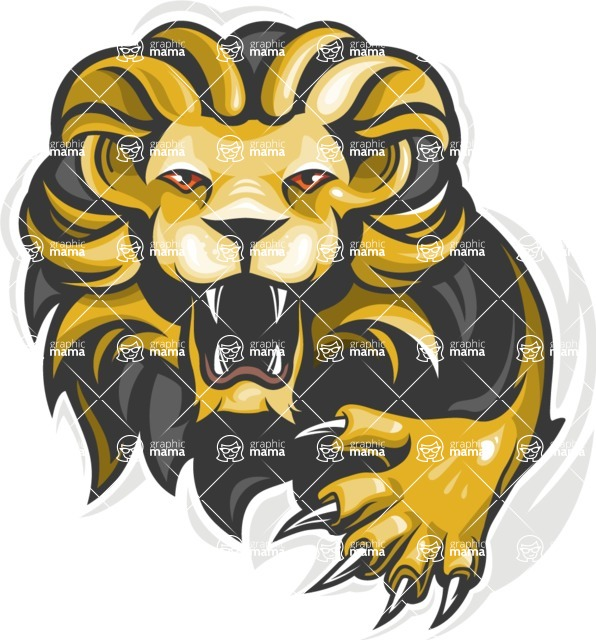 Vector Mascot Collection - Lion Sport Mascot Illustration