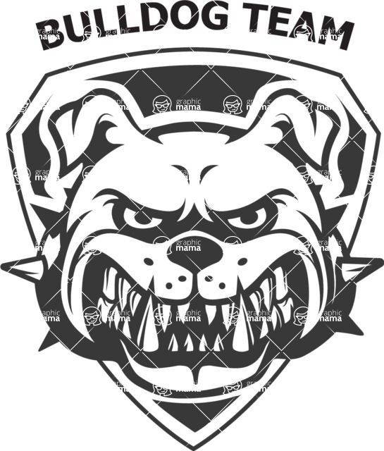 Vector Mascot Collection - Sport Team Bulldog Mascot Emblem