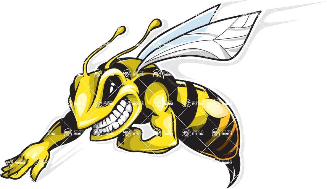 Vector Mascot Collection - Bee Mascot Logo Design