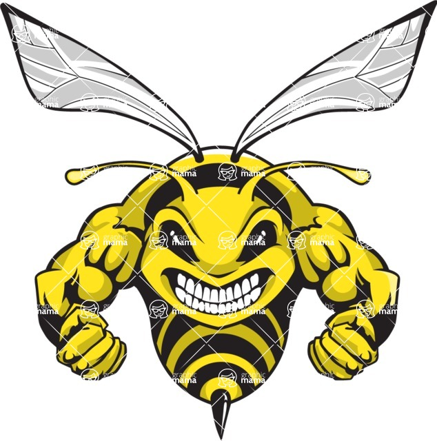 Sport Logo Templates Mega Bundle Design Bundle Hornet Mascot