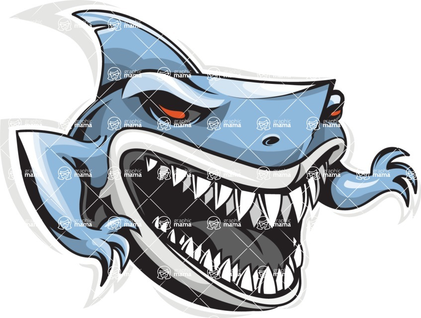 Vector Mascot Collection - Shark Mascot Sport Logo