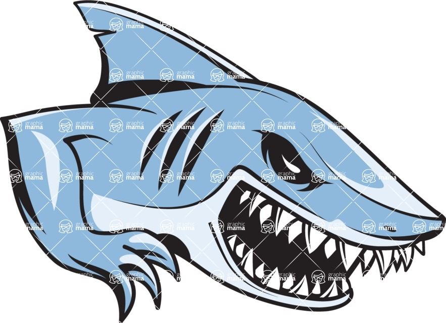 Vector Mascot Collection - White Shark Mascot Design