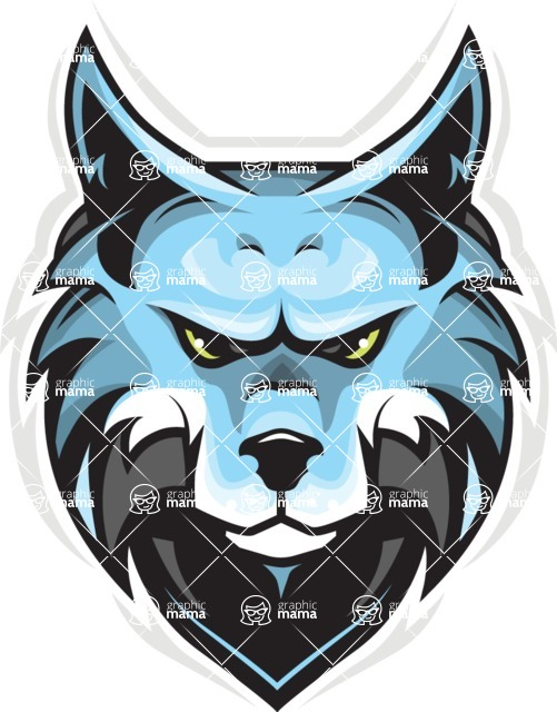 Vector Mascot Collection - Wolf Esports Mascot Design