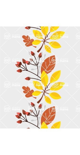 Nature Backgrounds, Patterns and Frames Themed Graphic Collection - Beautiful Seamless Flowers Vector Pattern