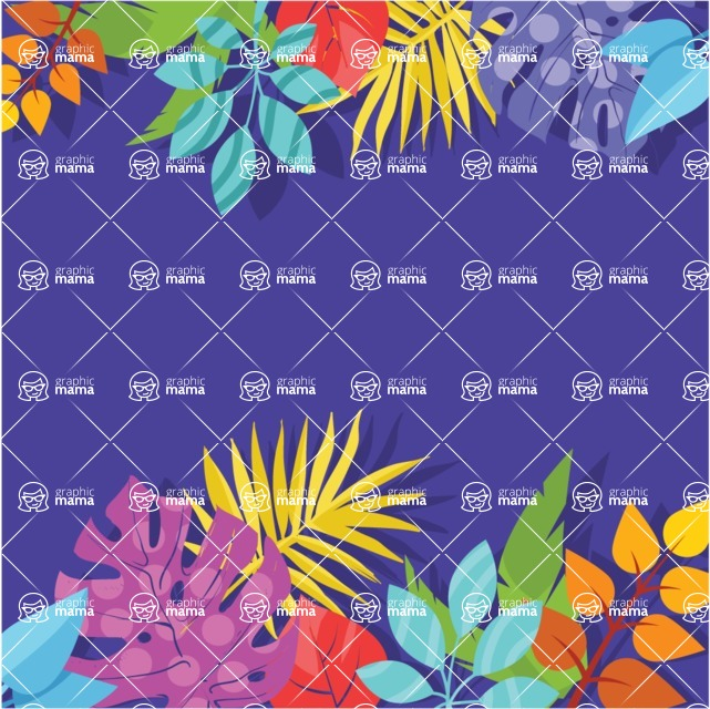 Nature Backgrounds, Patterns and Frames Themed Graphic Collection - Colorful Flowers Background