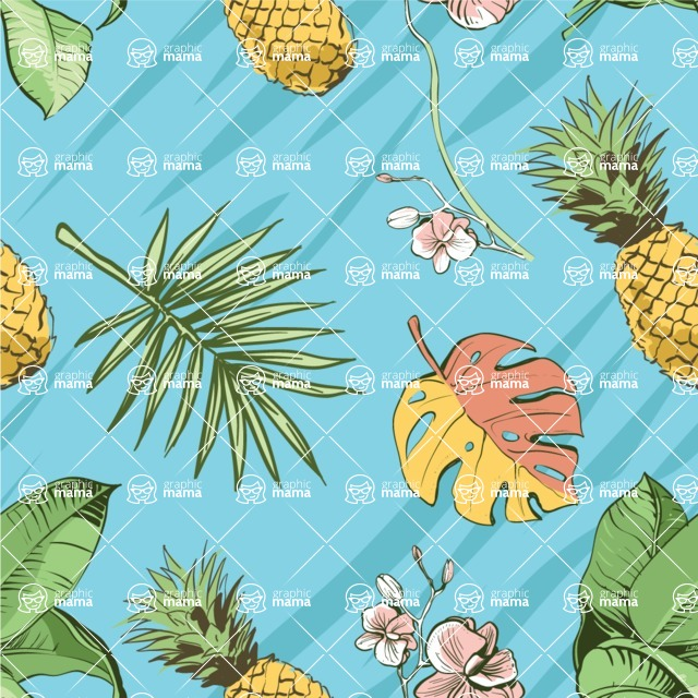 Mega Bundle Design Bundle / Colorful Vector Floral Pattern