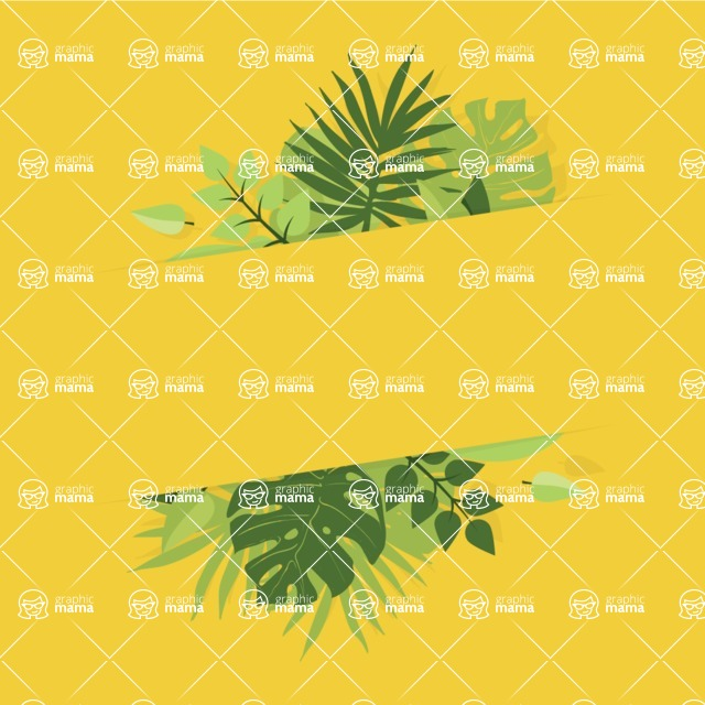 Nature Backgrounds, Patterns and Frames Themed Graphic Collection - Modern Floral Vector Frame Graphic