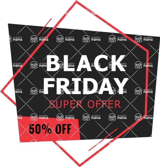 Sale Badges Vector Collection - Black Friday Banner Vector