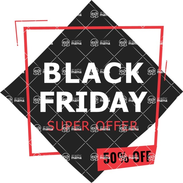 Sale Badges Vector Collection - Black Friday Sale Poster Vector