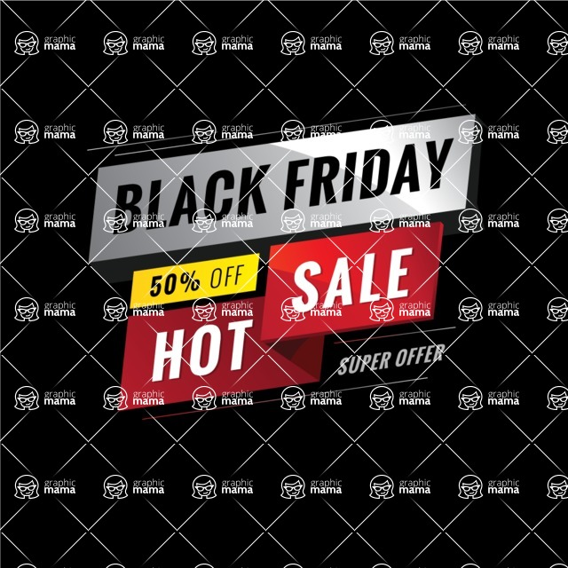 Sale Badges Vector Collection - Black Friday Sale Vector Banner