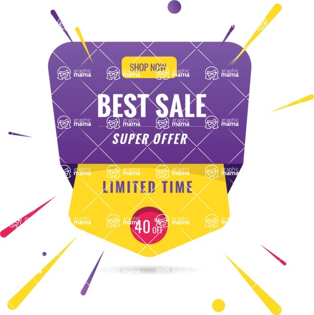 Sale Badges Vector Collection - Colorful Sale Vector Banner