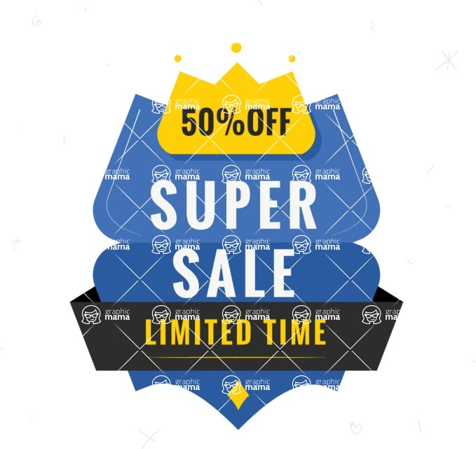Sale Badges Vector Collection - Limited Sale Offer Badge Vector