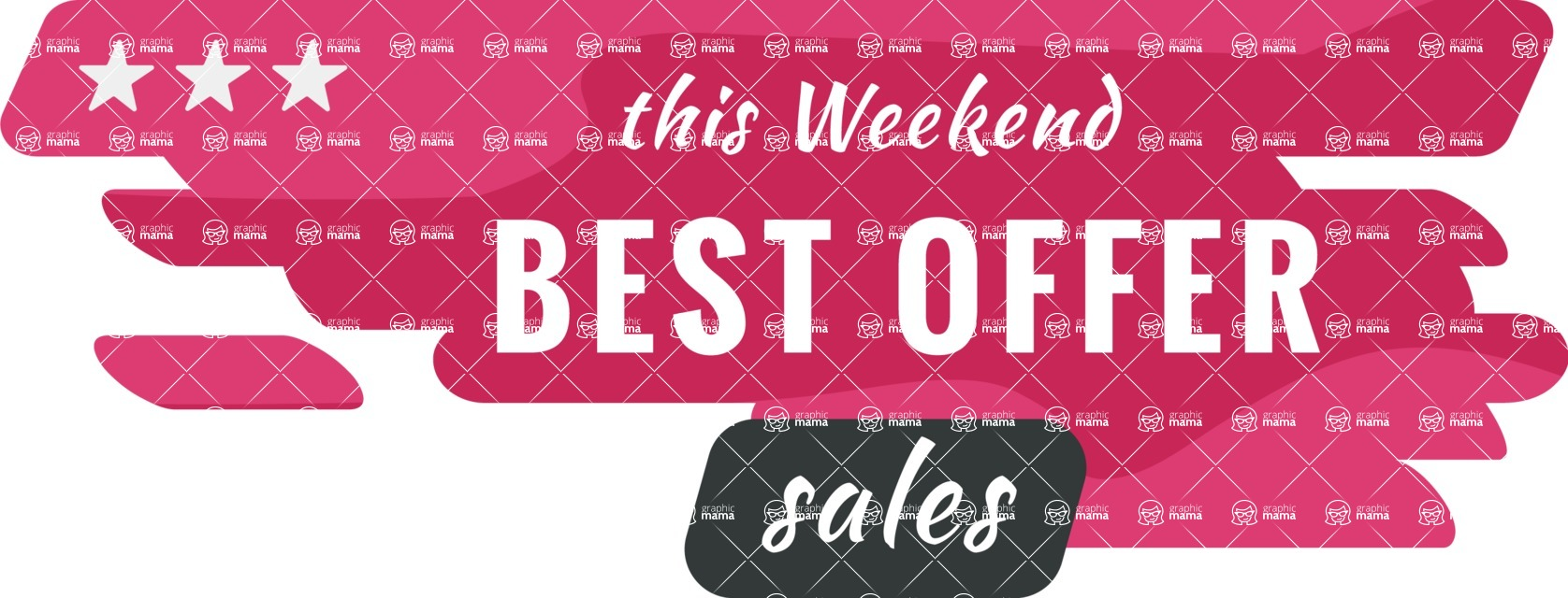 Sale Badges Vector Collection - Weekend Sale Badge Vector Template