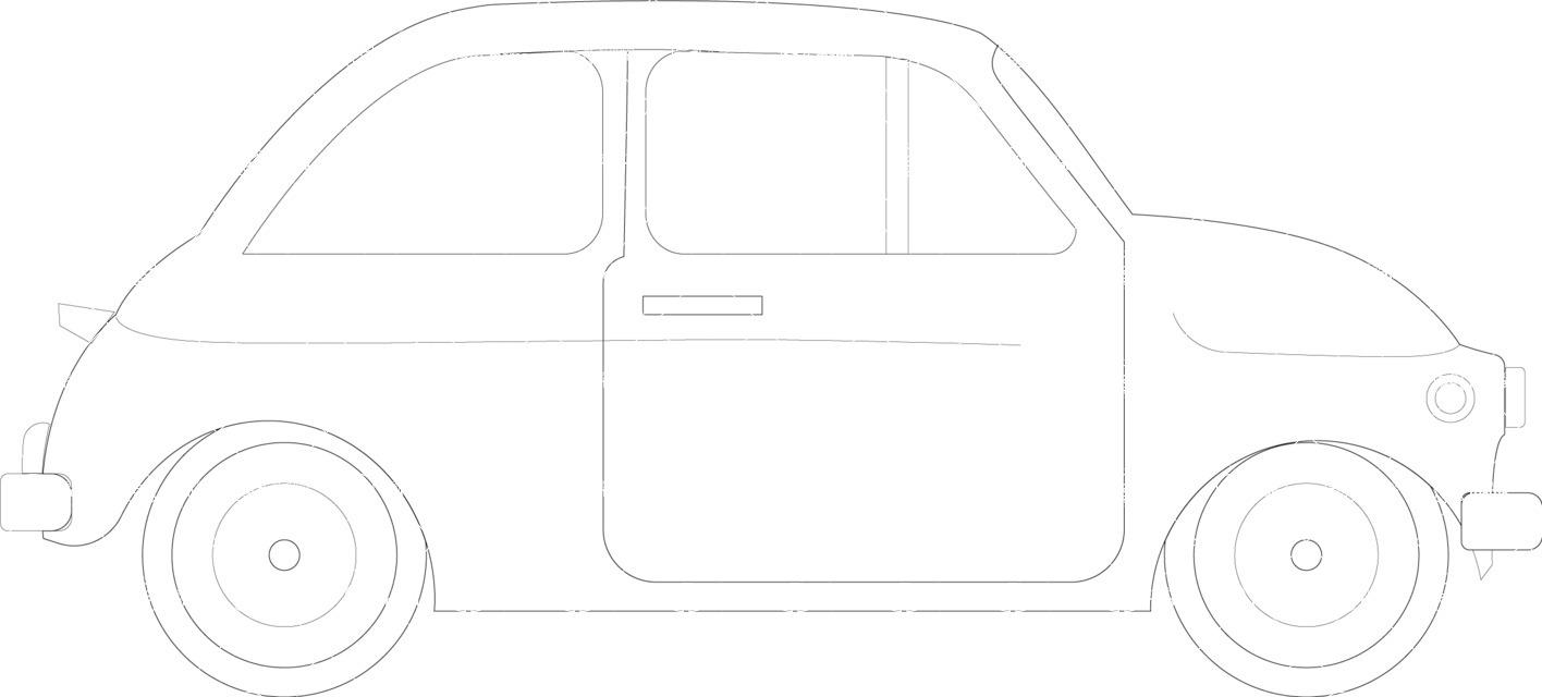 Italy Themed Graphic Collection - Hand Drawn Car Vector Icon
