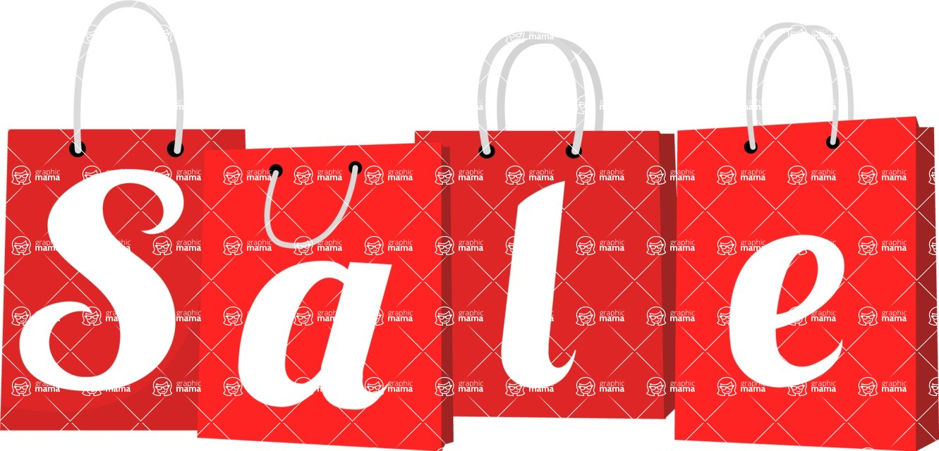 124ffca86059 Sale, Offer and Discount Free Vector Signs: Boost My Sales! | GraphicMama / Sale  Sign Shopping Bags | GraphicMama