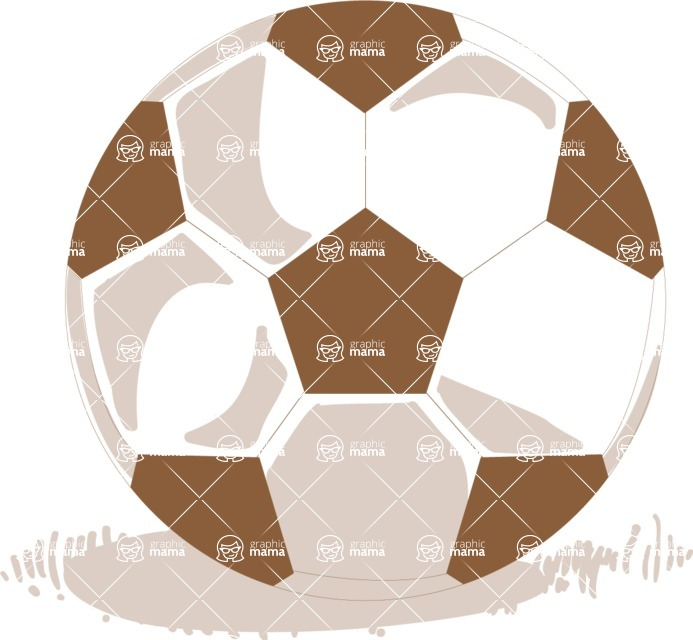 Italy Themed Graphic Collection - Hand Drawn Soccer Ball Vector