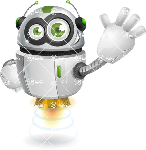 robot vector cartoon character - robot vector cartoon character design hello