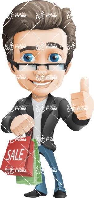 Handsome man vector character - one of GraphicMama best sellers - Handsome man vector character - Nick - sale