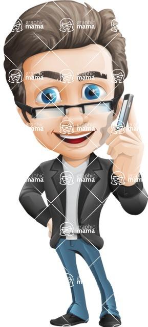 Handsome man vector character - Nick Smartman - Handsome man vector character - Nick - support