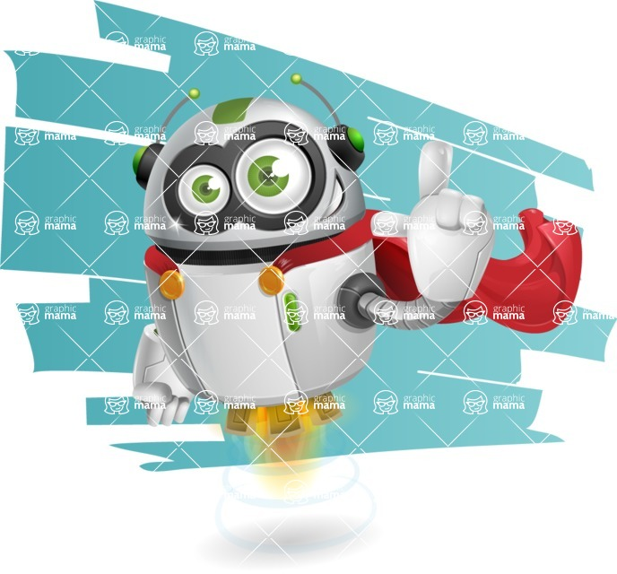 robot vector cartoon character - robot vector cartoon character design superhero with background