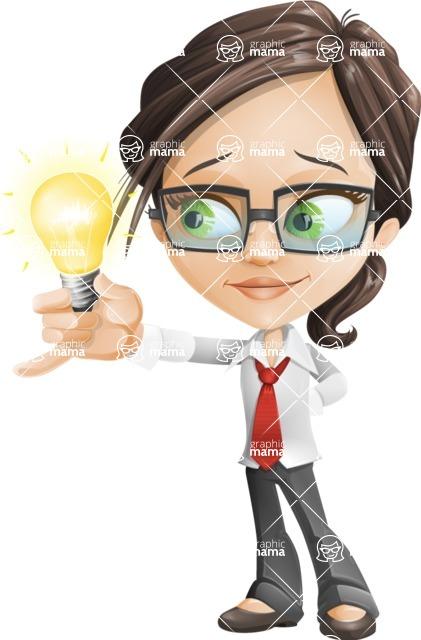 woman vector female cartoon character - Nikki - woman vector female cartoon character design - business idea