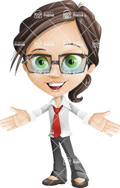 woman vector female cartoon character - Nikki - woman vector female cartoon character design - hello
