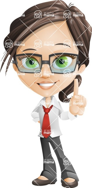woman vector female cartoon character - Nikki - woman vector female cartoon character design - attention audence