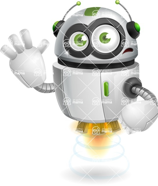 robot vector cartoon character - robot vector cartoon character design goodbye