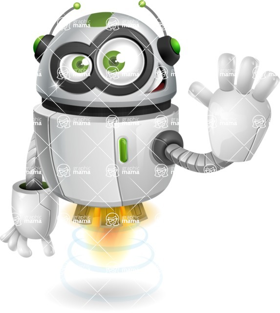 robot vector cartoon character - robot vector cartoon character design wave hello goodbye