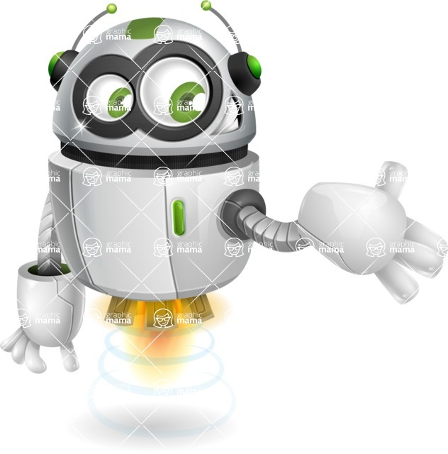 robot vector cartoon character - robot vector cartoon character design show