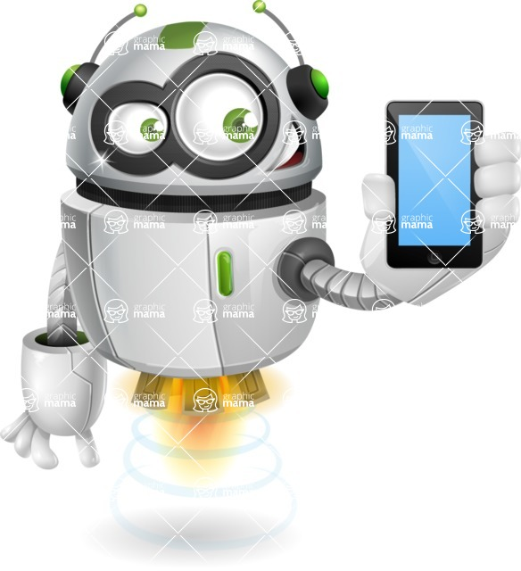 robot vector cartoon character design - robot vector cartoon character design smartphone iphone