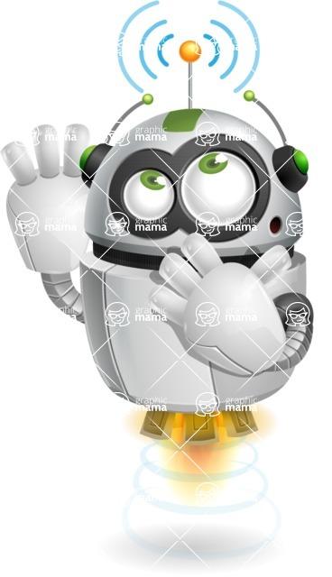 robot vector cartoon character - robot vector cartoon character design wifi point signal