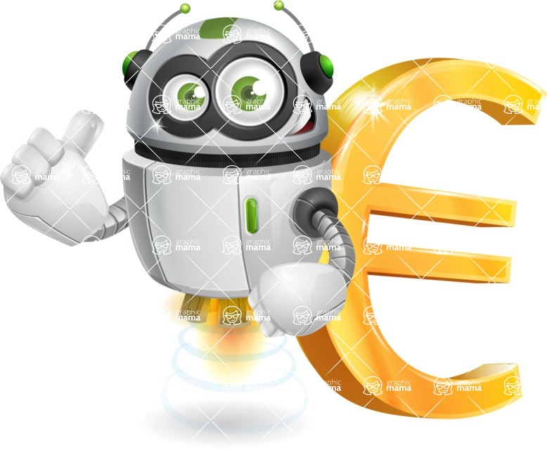 Vector Robot Cartoon Character Rory Aerobot Graphicmama Euro