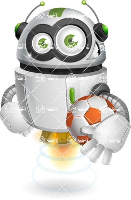 robot vector cartoon character - robot vector cartoon character design soccer football sportsman